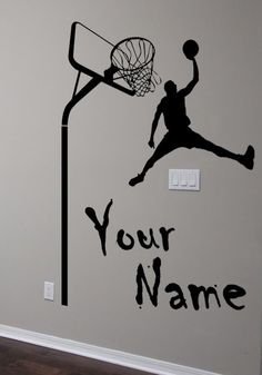 Wall art Custom Large Basketball Player choose by FunnyAndSticky