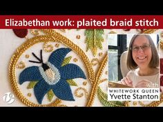 (205) White Threads FlossTube #31 – Plaited braid stitch - YouTube Plait Braid, Plaits, Braids Step By Step, Step By Step Instructions, Make It Yourself, Embroidery, Stitches, Projects, Youtube