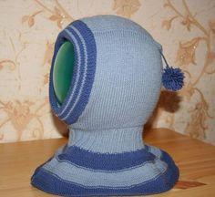 Шапка шлем спицами для мальчиков
