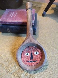 BOTH ITEMS SOLD....thanks!! Antique Wooden Scoops and Punch Needle   Primitive Handmades Mercantile