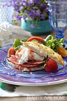 Strawberry Glazed Ham is served on thyme biscuits with burrata. - Photo: Peter Krumhardt