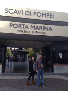 Entrance to de ruins of Pompeii, Italy.