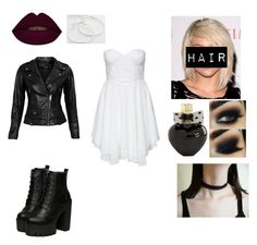 """""""Bride of chucky (Tiffany)"""" by lukethefuckingpenguin ❤ liked on Polyvore featuring Te Amo, VIPARO, Aéropostale, SO, women's clothing, women, female, woman, misses and juniors"""