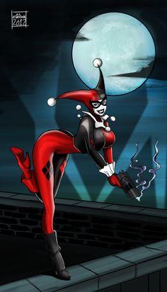 Harley Quinn by on deviantART Batman Comic Books, Comic Book Characters, Heroes For Hire, Evil Villains, Joker And Harley Quinn, Marvel Vs, The Villain, Gotham City, Catwoman