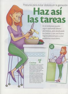 Consejos para embarazadas. Evita los dolores durante el embarazo. Ejemplos básicos desde Lenoarmi.