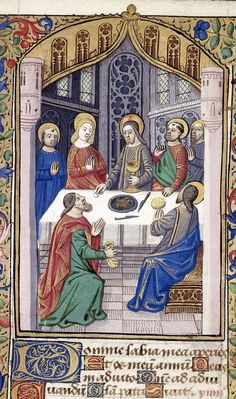 The Last Supper from a French Book of Hours