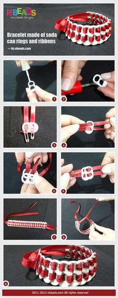 Bracelet Made of Soda Can Rings And Ribbons – Nbeads