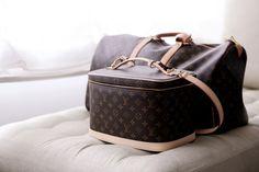Louis Vuitton bags for travel.... adore!