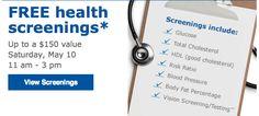 FREE Health Screening at Sam's Club   Coupon Friendly