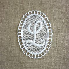 Vintage Embroidered Letter L by LisbonStory on Etsy, $5.00