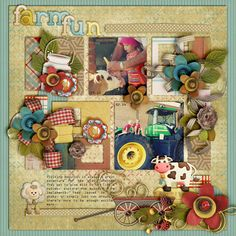 Kit: Country Carnival Farm - Studio4 Designworks @GDS OR @The Studio Alpha: Country Carnival - Studio4 Designworks Template: Layered with love set 3 - Seatrout Scraps  @GP OR @GS OR @SBB