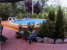 Cool Above Ground Pool Ideas   Ideas For Backyards Blueprint Great Small Front Yard Landscaping Ideas ...
