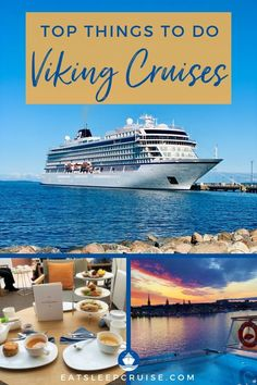 While the unique ports of call might be the highlight of your trip, don't overlook the ship itself and all of the Top Things to Do on a Viking Ocean Cruise. Packing List For Cruise, Cruise Tips, Cruise Travel, Cruise Vacation, Vacations, Cruise Excursions, Cruise Destinations, Viking Ocean Cruise, Cruise Ship Reviews