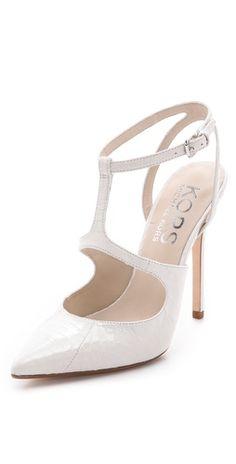 Sexy white stilettos! Wedding shoes anyone?