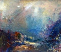 Into the Dark Valley (artist Steve Slimm) - there is nothing quite like the feeling of weight juxtaposed with the incredible lightness of being Alive. Pastel Landscape, Abstract Landscape, Landscape Paintings, English Artists, World Of Color, Creative Words, Cornwall, Clarity, Awakening