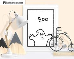 Ghost Comic, Boo Ghost, Halloween Poster, Halloween Kids, Fisher, Poster S, Kids Poster, Do It Yourself Furniture, Alternative Movie Posters