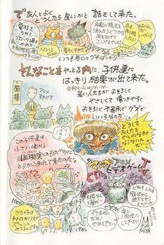 「今の子供達は小さい頃から非現実のものバカリ(テレビ、アニメ、マンガ、ゲーム・・)にとりかこまれて来たのだ。 その影響の結果・・・」   「若い人たちが、おそろしくやさしくて、傷つきやすく、おそろしく不器用でグズでいい子なのだ・・・。」       (「虫眼とアニ眼」養老猛司、宮崎駿)