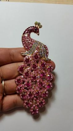 Beautiful crystal embellished alloy Size 5 inches