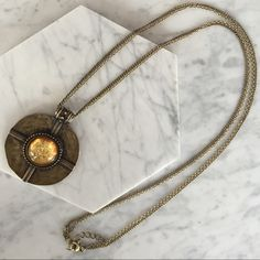 Medallion necklace Beautiful Medallion necklace. Circle diameter is 2 inches; chain length is 18 inches Jewelry Necklaces
