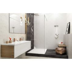 Eurcan Tile is a Canadian based e-commerce tile company, specializing in bathroom, kitchen and tiles for your home. House Tiles, Wall And Floor Tiles, Modern Small Bathrooms, Tile Design, Home Renovation, Home Decor Inspiration, Double Vanity, Showroom, Bathroom Ideas