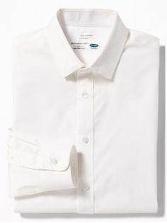 Slim-Fit Built-In Flex Signature Non-Iron Shirt for Men - oldNavy Old Navy Men, Shop Old Navy, Non Iron Dress Shirts, Shirt Dress, Collar Stays, Slim Man, Girls Shopping, Button Up Shirts, Men Casual