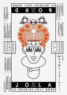 Imieniny Joli Bord 2013 – upside-down heads poster