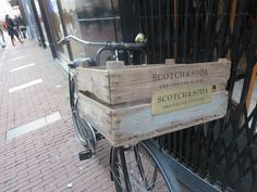 wooden crate on bike