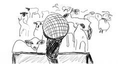Be heard, Not herd. Simple illustration. #communication #listen #action