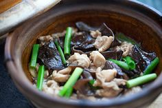 Chinese Chicken Stew with Black Fungus - to use left over black fungus