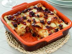 Ricetta Lasagne di polenta bianca con speck cipolle brasate e fontina