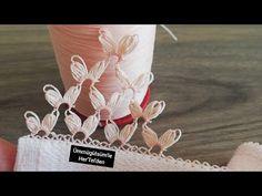 Havlu ve namaz örtüleri için kimse de olmayan çok şık iğne oyası dağ yapımı - YouTube