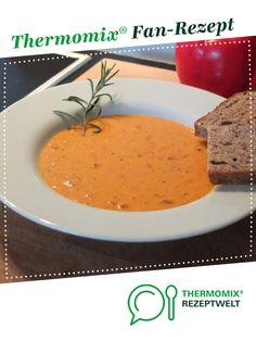 Paprika-Creme-Suppe griechische Art von Schirmle. Ein Thermomix ® Rezept aus der Kategorie Suppen auf www.rezeptwelt.de, der Thermomix ® Community.