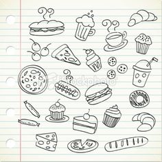 food doodle Royalty Free Stock Vector Art Illustration   *mos*
