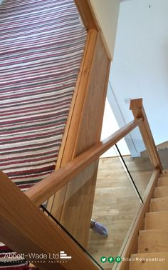The staircase is refurbishment is ready, just a visit from the carpet fitter to refit the carpet and the project will be completed. New Staircase, Staircase Design, Carpet Fitters, Bespoke Staircases, Refurbishment, Design Consultant, Stairs, Glass, Projects