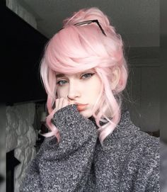 Pin by dana mcbride on hair pins in 2019 pastel pink hair, hair color pink, Hairstyles With Bangs, Pretty Hairstyles, Latest Hairstyles, Pink Hairstyles, Oblong Face Hairstyles, Kawaii Hairstyles, Long Haircuts, Trending Hairstyles, Hair Inspo