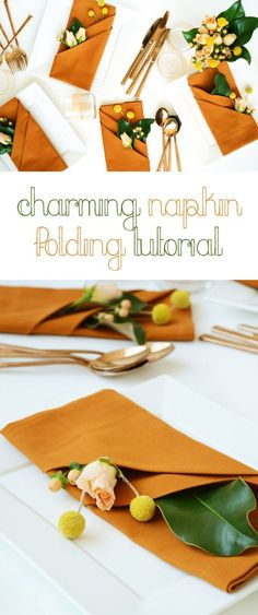 Welcome guests to dinner with these super impressive napkins at each place setting. Learn how to DIY this easily with this how-to:  http://www.ehow.com/how_12343549_charming-napkin-folding-tutorial-fall-table.html?utm_source=pinterest.com&utm_medium=referral&utm_content=freestyle&utm_campaign=fanpage