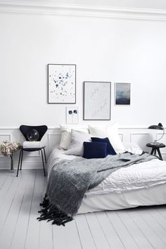 Home Decor – Bedrooms : Grey, white & blue -Read More –