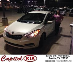 #HappyAnniversary to Belinda Espinosa on your new car  from Ashley Chavarria at Capitol Kia!