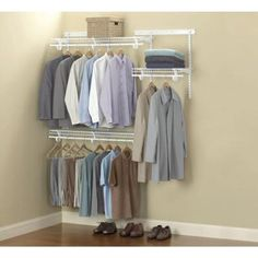 ClosetMaid ShelfTrack 13 in. H Wire Closet System Organizer - The Home Depot Laundry Room Storage, Closet Storage, Closet Organization, Closet Shelving, Bedroom Storage, Home Depot, Metal Clothes Rack, No Closet Solutions, Closet Bedroom