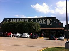 Lambert's Cafe - Springfield, MO Home of the hand tossed rolls! Good food with side that keep coming and coming; at no extra charge either.