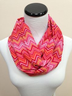 NEW Vintage Chevron Sorbet Infinity Scarf by oneforonecreations, $20.00