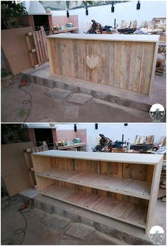 Awesome Smart Creations with Old Pallets: Are you ready enough to bring pallets in your houses? Well, we all have an inside talent in us as it do demand for some practice and hard work to. Old Pallets, Recycled Pallets, Wooden Pallets, Recycled Wood, Pallet Wood, Diy Pallet Furniture, Diy Pallet Projects, Wood Projects, Pallet Ideas