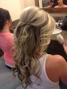 Wedding hair I did!