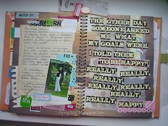 With his head in scrapbooking: SmashBook. To Be Happy quote