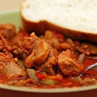 Mushroom Stew (Italian version) by Taste of Utica Cook Book. No matter what version you make, always serve it with fresh Italian bread! Ny Food, New York Food, Slow Cooker Recipes, Crockpot Recipes, Cooking Recipes, New York Eats, Mushroom Stew, Stuffed Mushrooms, Stuffed Peppers