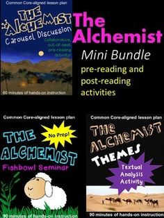 If you are looking for a breath of fresh air in your classroom, youll love these activities for Paulo Coelho's The Alchemist. For a savings of over 30%, buy this pre-reading and post-reading activities bundle today to increase student engagement in your classroom.