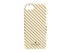 Kate Spade New York Diagonal Stripe Case for iPhone 5 (Gold/Cream) Cell Phone Case