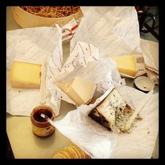 Time Out New York digging into an APC cheese basket! Photo by janetcap • Instagram