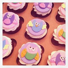 Owl cupcakes ;) with red velvet cake ;) yumm