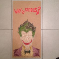 Joker en string art
